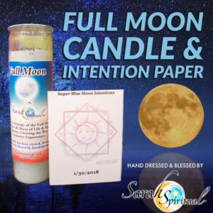 Full Moon Candle and Intention Paper