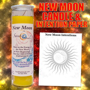 New Moon Candle & Intention Paper