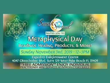Metaphysical Day Sunday November 3