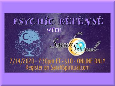 SarahSpiritual Psychic Defense