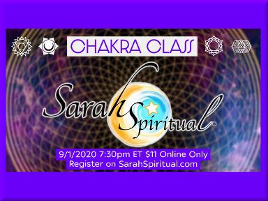 ONLINE SarahSpiritual Class – Chakra Power