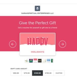SarahSpiritual eGiftCard Happy Holidays
