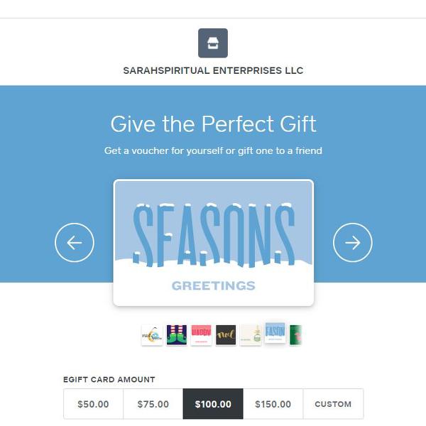 SarahSpiritual eGiftCard Seasons Greetings