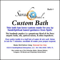 Psychic SarahSpiritual Custome Bath