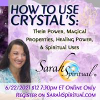 SarahSpiritual How to Use Crystals Online Class